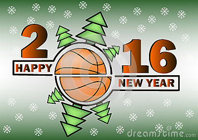 Bonne annee et basket ball 63754121
